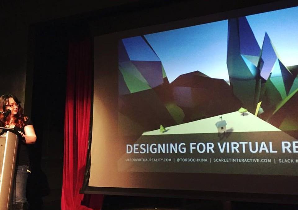 My Designing for Virtual Reality Lightning Talk